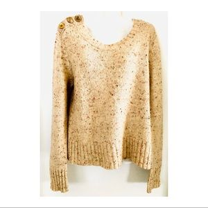 Charlie&Robin|Anthro|Berm Speckled Sweater Sz L